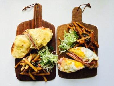 Croque monsuier and madame